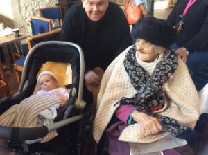 Scarlett, born 2015 and Constance, born 1915.